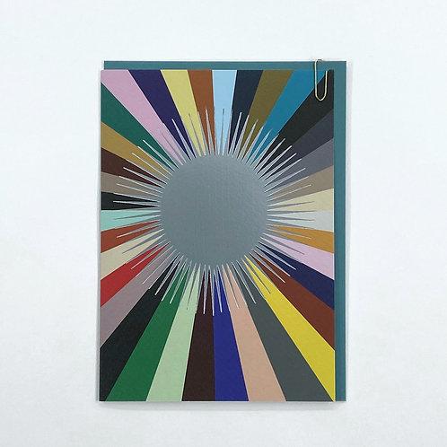 'Radar' Card - Silver/Multi