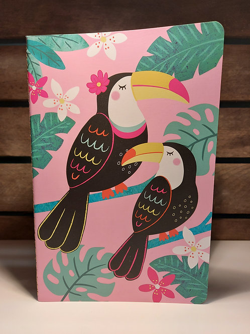 Toucans A5 Notebook by Sass & Belle