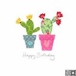 Sew Delightful Cacti Birthday Card