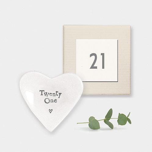 21 Mini Porcelain Heart Dish
