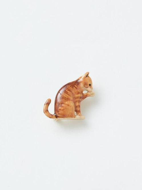 Enamel Cat Brooch by Fable