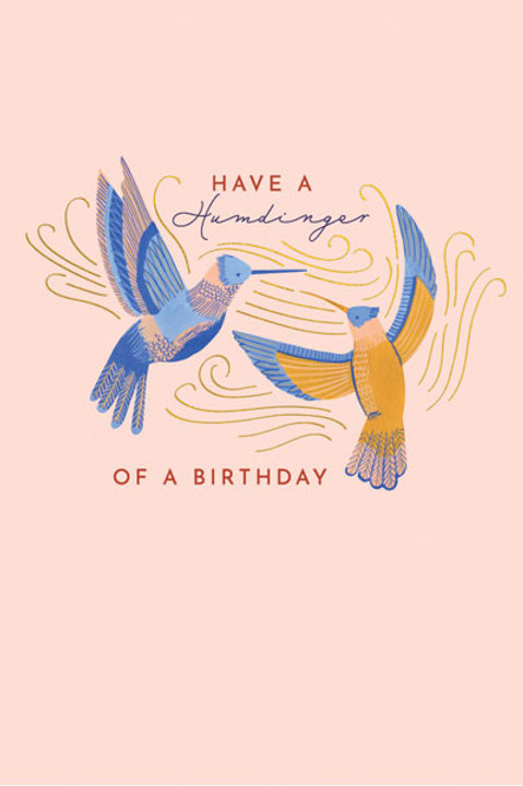 Tranquility 'Hummingbirds' Birthday Card