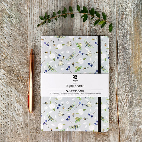 National Trust Dragonflies A5 Lined Notebook by Toasted Crumpet