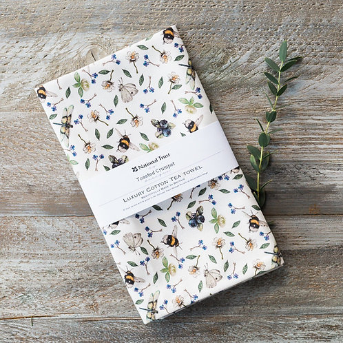 National Trust Wildflower Meadow Tea Towel by Toasted Crumpet