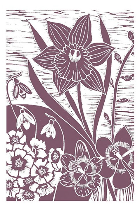 Silhouette 'English Spring' Card