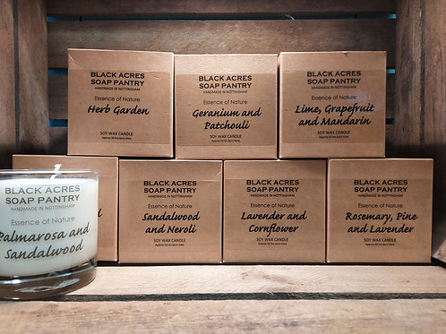 'Essence of Nature' Large Soy Wax Candle by Black Acres Soap Pantry