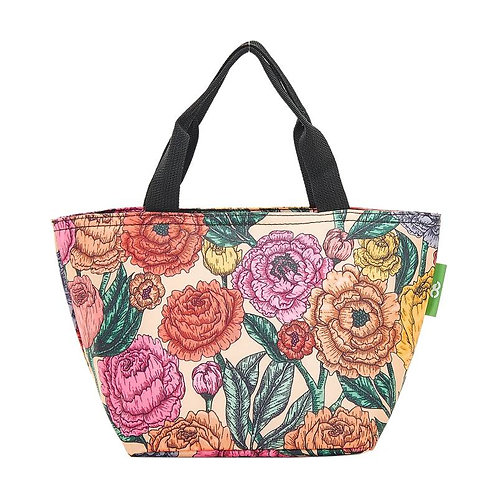 Peonies (Cream) Recycled Lunch Bag by EcoChic