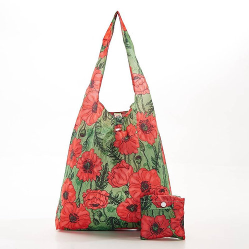 Poppies (Green) Recycled Shopper by EcoChic