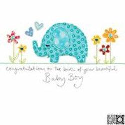 Sew Delightful Baby Boy Card