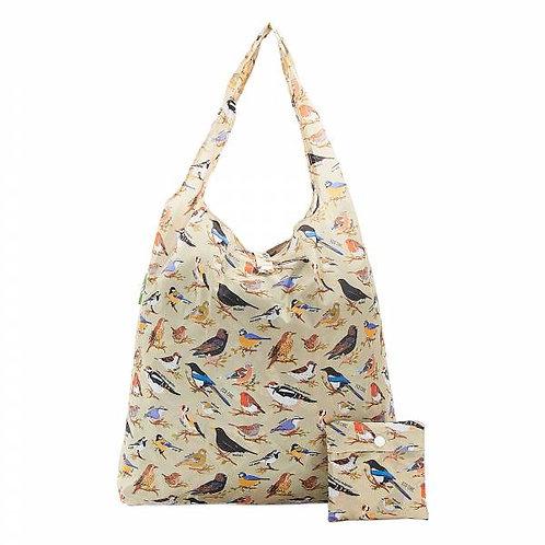 Garden Birds (Green) Recycled Shopper by EcoChic