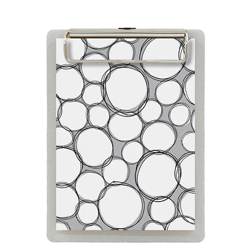 White Bubbles Clipboard and Notepad