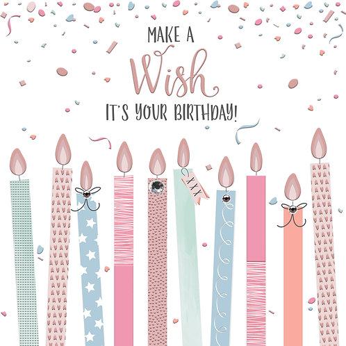 Confetti 'Make a Wish' Card