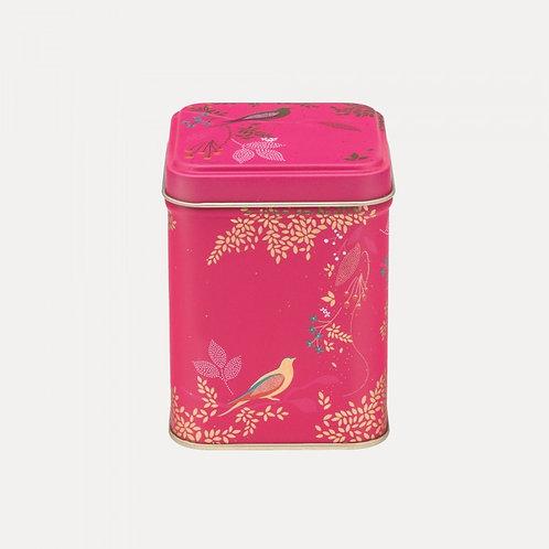 Pink Birds Square Tin by Sara Miller