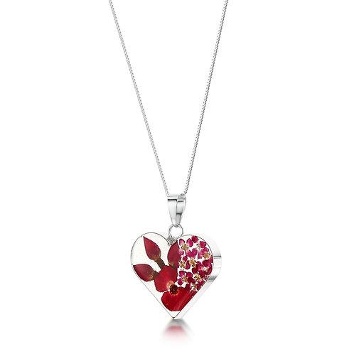Poppy & Rose Heart Pendant by Shrieking Violet