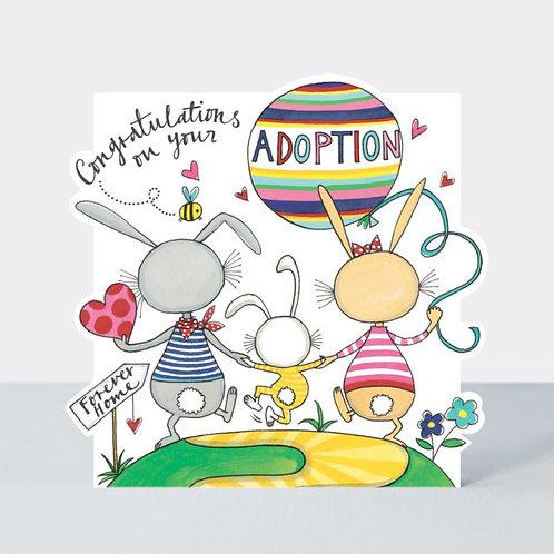 Bunny Family Adoption Card