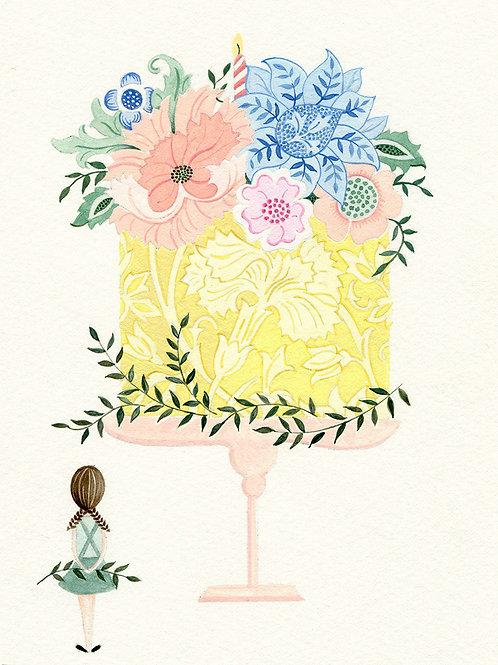Veryan 'Flower Cake' Card