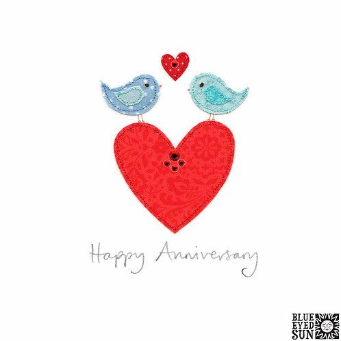 Sew Delightful Anniversary Love Birds Card