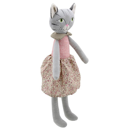 Dressed Cat (Girl) Soft Toy by Wilberry Toys