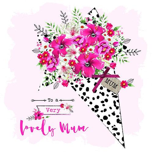 Lovely Mum Flower Bouquet Mother's Day Card
