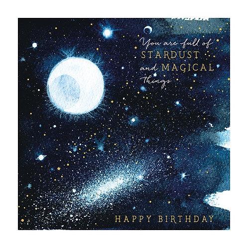 Natural Phenomenon 'Stardust' Birthday Card