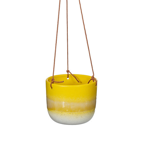 Mojave Yellow Hanging Planter by Sass & Belle