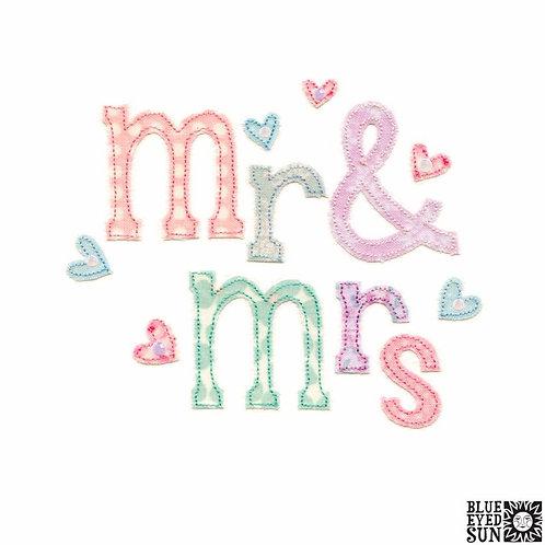 Sew Delightful Mr & Mrs Wedding Card
