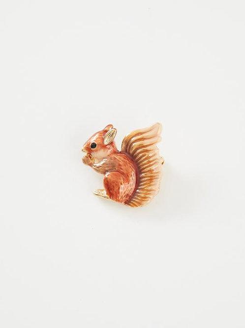 Enamel Squirrel Brooch by Fable