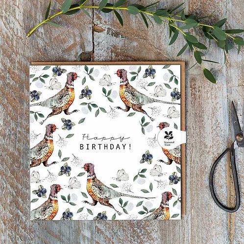 National Trust 'Pheasant' Birthday Card