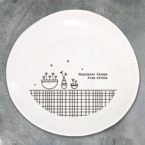 'Happiness Blooms' Porcelain Plate