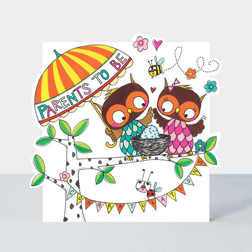 Owls Parents to Be Card