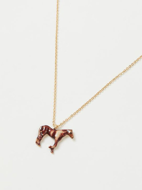 Enamel Horse Short Necklace by Fable