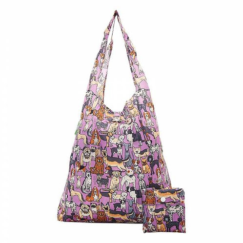 Dogs (Lilac) Recycled Shopper by EcoChic