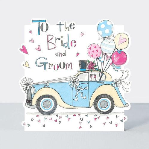 Bride & Groom Car Wedding Card
