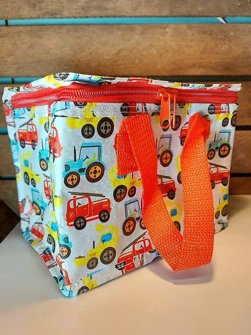 Tractors & Trucks Recycled Lunch Bag