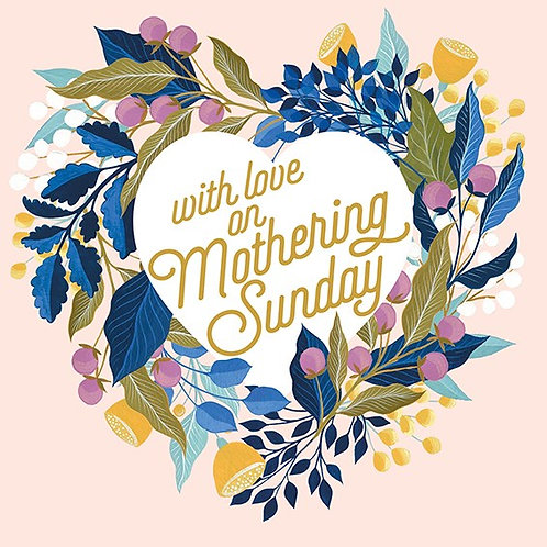 Floral Heart Mothering Sunday Card