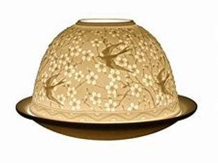 Swallows Light-Glow Porcelain Tealight Dome