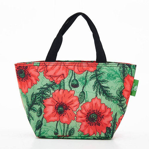 Poppies (Green) Recycled Lunch Bag by EcoChic