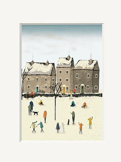 'Freezing Fun' Not at all Jack A5 Print
