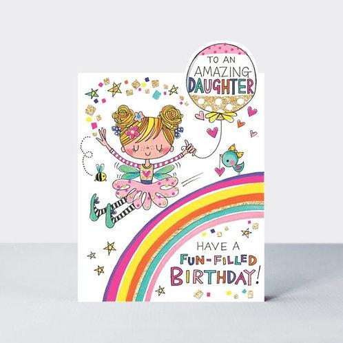 Amazing Daughter Fairy & Rainbow Card
