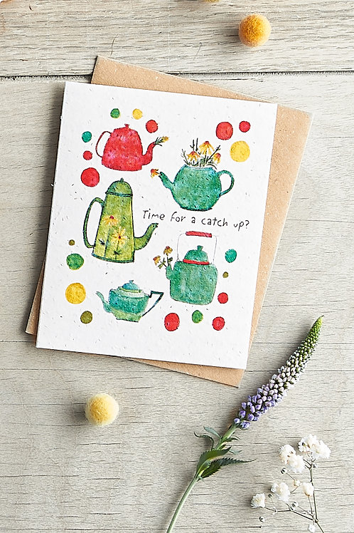 'Catch up' Chamomile Seed Card by Hannah Marchant