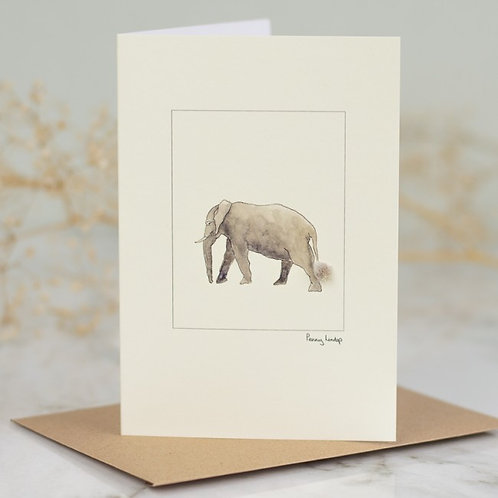 'Elephant' Card by Penny Lindop