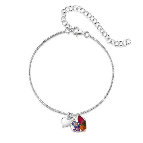 Mixed Flower Heart Bracelet/Anklet by Shrieking Violet
