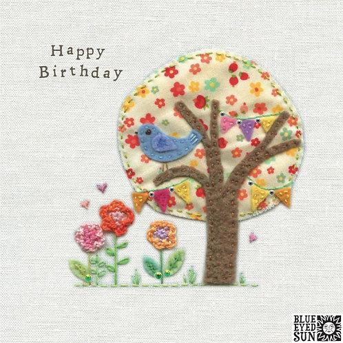 Touchy Feely Tree Birthday Card