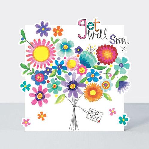 Flower Bouquet Get Well Soon Card