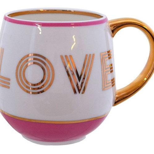 Library Monogram 'Love' Mug