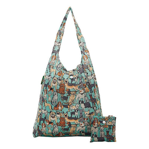 Dogs (Teal) Recycled Shopper by EcoChic