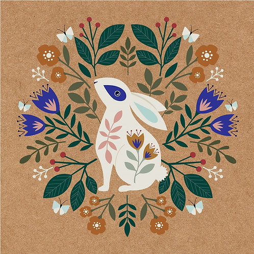 'Meadow Blue' Rabbit Card