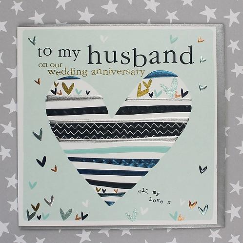 Molly Mae 'To My Husband' Anniversary Card