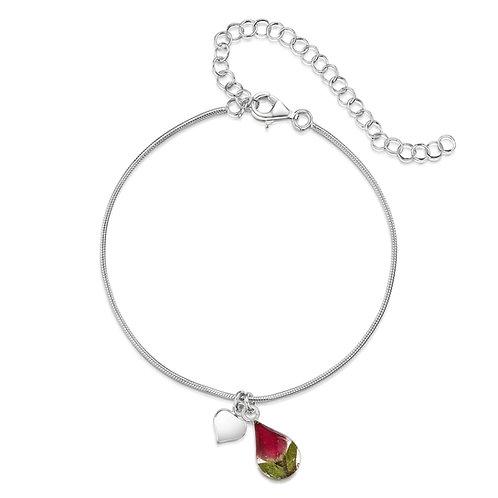 Rose Teardrop Bracelet/Anklet by Shrieking Violet