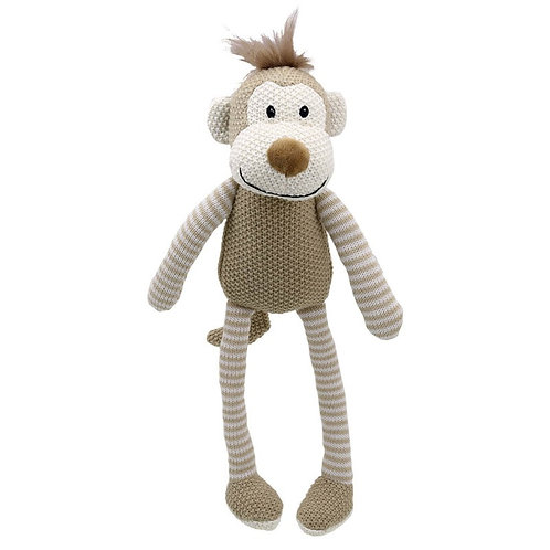Knitted Monkey by WilberryToys